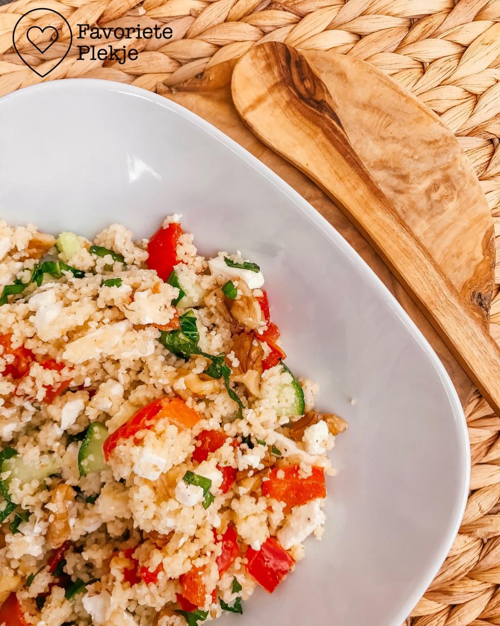 Recept: Vegetarische couscous salade met feta